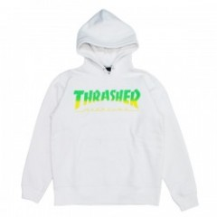 "★30%OFF★ THRASHER パーカ ""HOMETOWN PARKA"" (White/Green)"