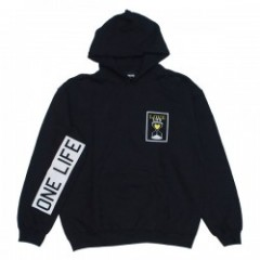 "Deviluse パーカ ""LOVE LIFE PULLOVER HOODED"" (Black)"