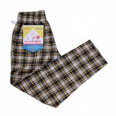 "COOKMAN シェフパンツ ""CHEF PANTS"" (Corduroy Tartan / Yellow)"