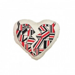 "Deviluse クッション ""GEOMETRY HEART MINI CUSHION"" Natur"