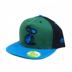 "seedleSs ""2TONE SPROUT SNAPBACK CAP"" (Grn/Blk/Blu)"