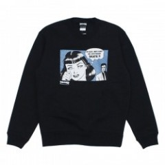 "THRASHER クルースウェット ""BOYFRIEND CREW SWEAT"" (Black/Horizon)"