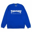 "THRASHER クルースウェット ""MAG CREW SWEAT"" (Royal/White)"