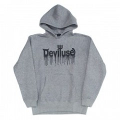 "Deviluse パーカ ""LOGO BLOOD PULLOVER HOODED"" (Gray)"