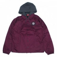 "INDEPENDENT コーチジャケット ""THRASHER PENTAGRAM CROSS HOODED WINDBREAKER JACKET"" (Garnet)"