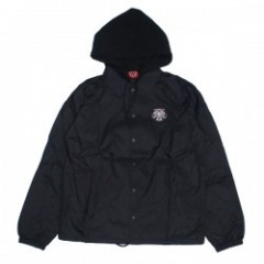 "INDEPENDENT コーチジャケット ""THRASHER PENTAGRAM CROSS HOODED WINDBREAKER JACKET"" (Black)"