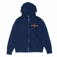 "redrope ジップパーカ ""THE FISH SLAVE ZIP HOODIE"" (Indigo/Orange)"