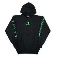 "SKULL SKATES ロゴパーカ ""LOGO HOOD SWEAT"" (Black/Green)"