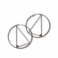"Deviluse ピアス ""HOOP x TRIANGLE PIERCE"" (Silver)"