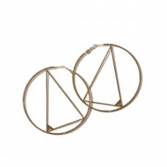 "Deviluse ピアス ""HOOP x TRIANGLE PIERCE"" (Gold)"