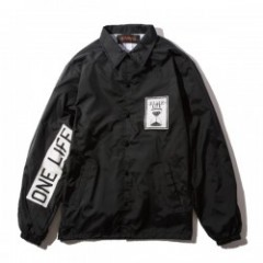 "Deviluse コーチジャケット ""ONE LIFE COACH JKT"" (Black)"