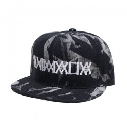 "ANIMALIA キャップ ""ANIMALIA SNAPBACK CAP"" (Bleach Black Denim/White)"