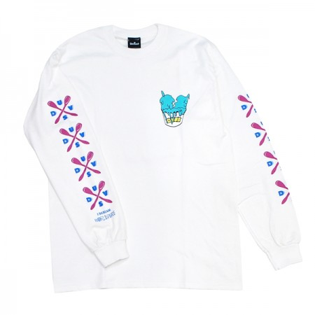 "Deviluse L/STシャツ ""I SCREAM L/S TEE"" (White)"