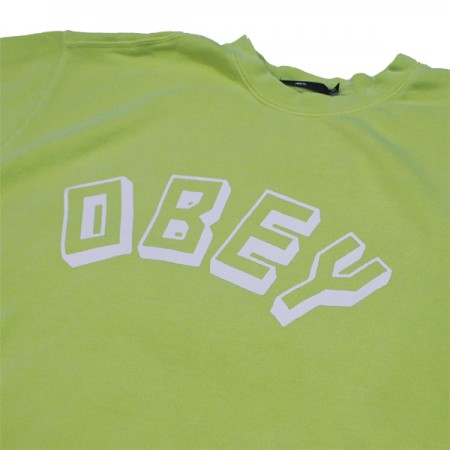 "★30%OFF★ OBEY クルースウェット ""OBEY NEW WORLD CREW SWEAT"" (D.Mint)"