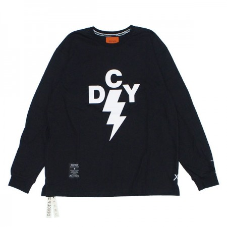 "DECOY&CO. L/STシャツ ""THUNDER DCY LONG TEE"" (Black)"