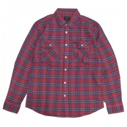 "BRIXTON L/Sシャツ ""BOWERY LIGHTWEIGHT L/S X FLANNEL"" (Cowhide)"