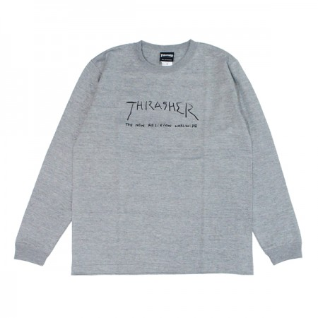 "THRASHER ""NEW RELIGION WORLDWIDE L/STEE"" (Gray)"