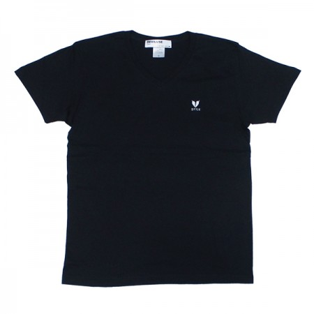 "Deviluse レディースTEE ""WOMAN HEARTACHES V-NECK TEE"" Bk"