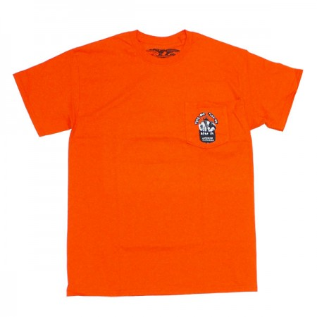 "ANTI HERO ポケットTシャツ ""TUNE OUT POCKET TEE"" (Orange)"