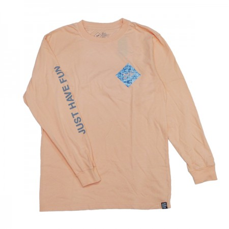 "JHF L/STシャツ ""ALL CAPS L/S TEE"" (Peach)"