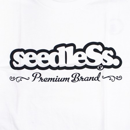 "seedleSs Tシャツ ""ROCK ! STITCH S/S TEE"" (White)"