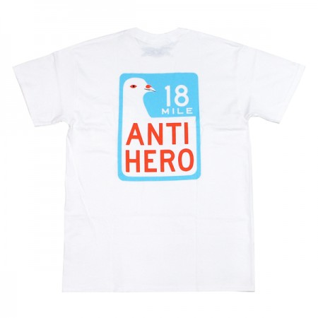 "ANTIHERO ポケットTシャツ ""SCENIC DRIVE POCKET TEE"" White"