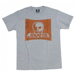 "SKULL SKATES ""OWBOY Tシャツ"" (Heather Gray / Brown)"