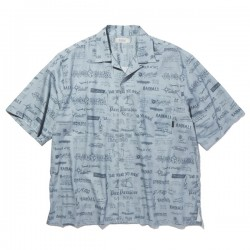 "RADIALL S/Sシャツ ""WALLTAG OPEN COLLARED SHIRT S/S"" (Blue)"