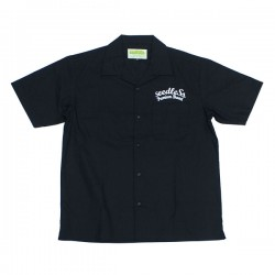 "seedleSs S/Sシャツ ""SD T/C OPEN COLLAR S/S SHIRTS"" (Black)"