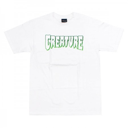 "CREATURE Tシャツ ""LOGO OUTLINE TEE"" (White)"