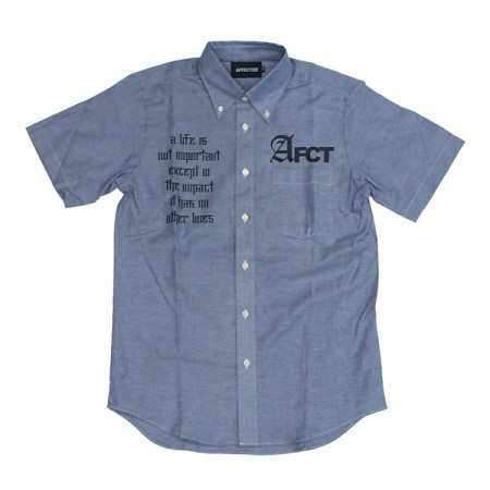 "AFFECTER S/Sシャツ ""AFCT OX SHIRTS"" (Denim)"