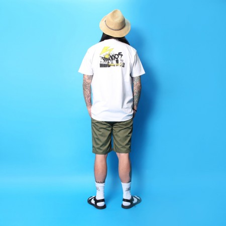"MINOS Tシャツ ""SS MID BRAINS TEE"" (White)"