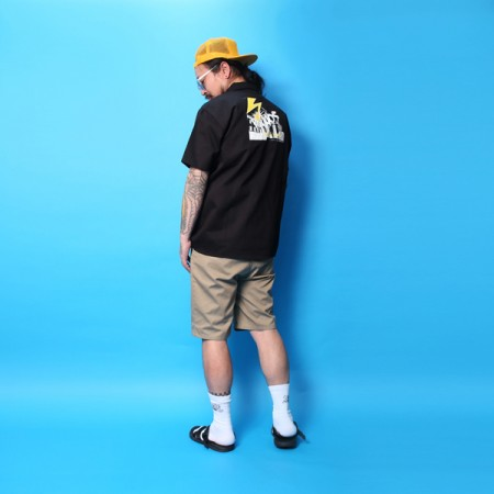 "MINOS ワークシャツ ""SS MID BRAINS WORK SHIRTS"" (Black)"