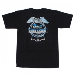 LOSER MACHINE × PABST BLUE RIBBON HIGHWAY TEE コラボTシャツ (Black)