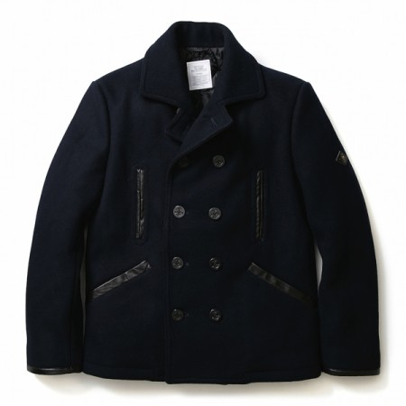 "★30%OFF★ CRIMIE ""HEVY OZ. MELTON PEACOAT"" (D Navy)"