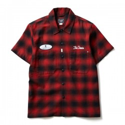 "★30%OFF★ CRIMIE × PLAYBOY コラボS/Sシャツ ""PLAYBOY CHECK SHIRT"" (Red)"