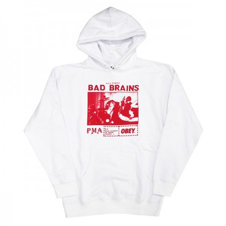 "OBEY パーカ ""BAD BRAINS PMA PHOTO PARKA"" (White)"