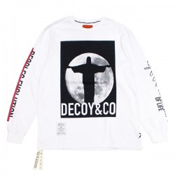 "DECOY&CO. L/STシャツ ""JESUS AND MOON LONG SLEEVE TEE"" (White)"