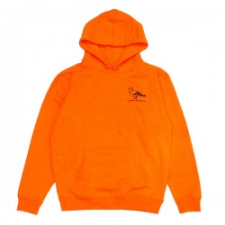 "ANTIHERO パーカ ""BASIC PIGEON EMB. HOODIE"" (Safety Orange/Black)"