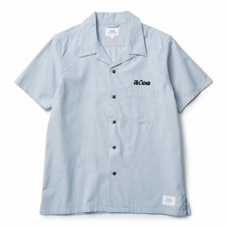 "CRIMIE S/Sシャツ ""VINTAGE OPEN S/S SHIRT"" (Blue)"