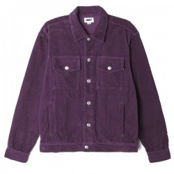 "OBEY シャツジャケット ""THEO SHIRT JACKET"" (Blackberry Wine)"