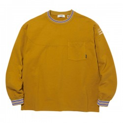 "★30%OFF★ RADIALL L/STシャツ ""SYNDICATE CREW NECK POCKET T-SHIRT L/S"" (Mustard)"