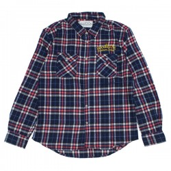"seedleSs L/Sシャツ ""SD CHECK NEL SHIRTS"" (Red/Navy)"