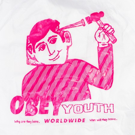 "OBEY コーチジャケット ""OBEY YOUTH COACHES JACKET"" (White)"