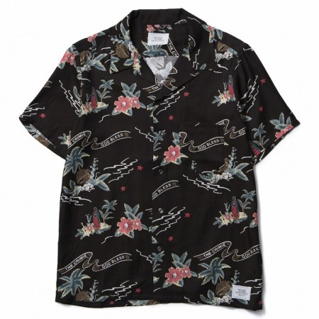 "CRIMIE S/Sシャツ ""ORIGINAL ALOHA SHIRT"" (Black)"