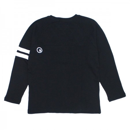 "seedleSs ""SD CROSS STITCH CREW SWEAT"" (Stoned Blk)"