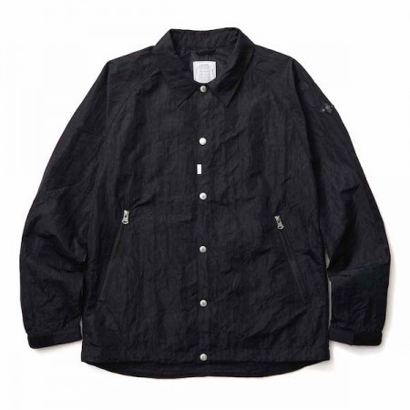 "【2〜3月入荷予定】CRIMIE ジャケット ""WRINKLE COACH JACKET"" (Black)"