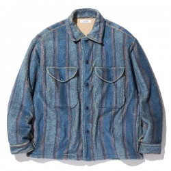"RADIALL L/Sシャツ ""TRENCH OPEN COLLARED SHIRT L/S"" (Atlantic Blue)"