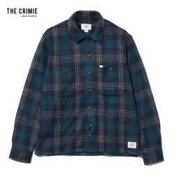 "★10%OFF★ CRIMIE L/Sシャツ ""CHECK SHAGGY KNIT SHIRT"" (Green)"