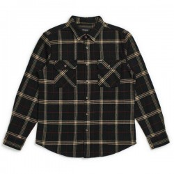 "BRIXTON L/Sシャツ ""BOWERY L/S FLANNEL"" (Black/Ivory)"